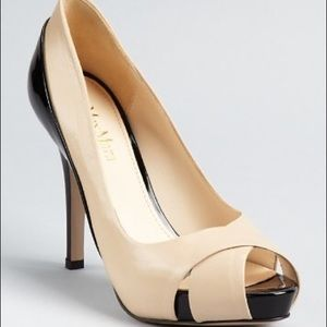 "Max Mara Fatima Peep Toes Pumps 4"" Heel Shoes 38"